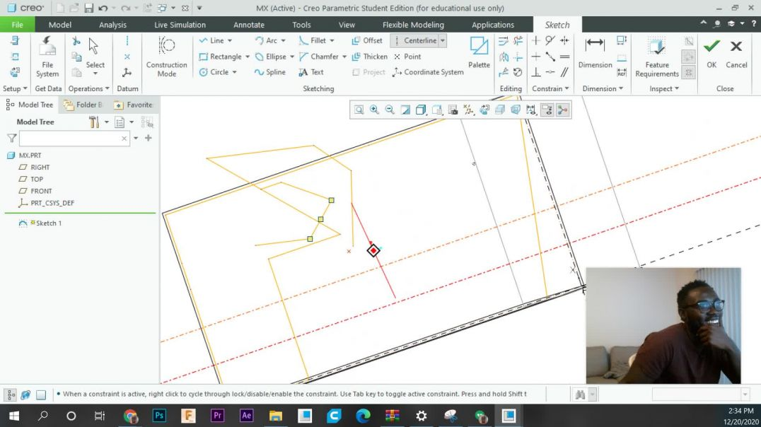 Mechanical Designing in Creo: 4 - Using the Extrude tool