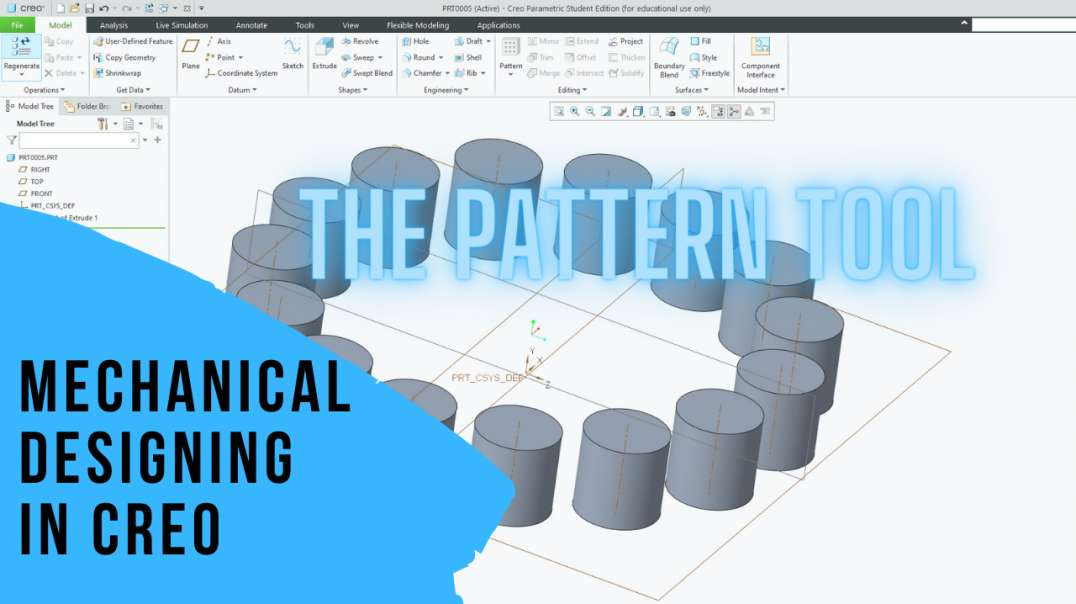 Mechanical Designing In CREO: 6 The Pattern Tool