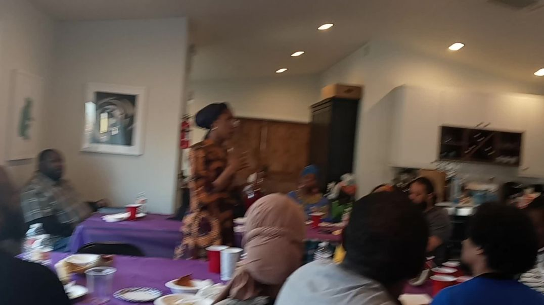 Ahkoti Falena Speaks during Pesach